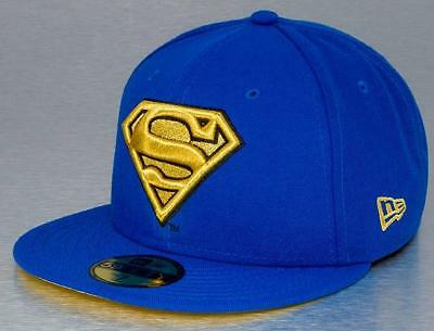 NEW ERA OFFICIAL 59FIFTY Fitted Baseball Cap SUPERMAN Gold Logo Various Sizes