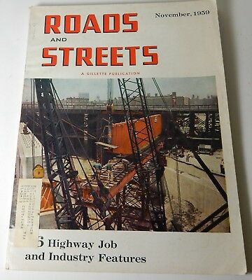 1959 Vol 102 No 11 ROADS & STREETS CONSTRUCTION GILLETTE MAGAZINE