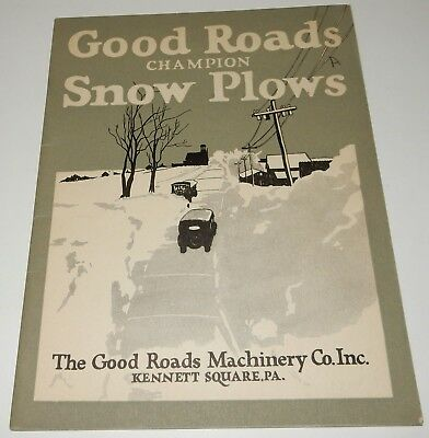 1926 Champion Good Roads Machinery Truck Vehicle Snow Plow Factory Sale Brochure