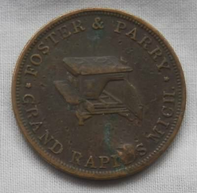 Token-Medal, Foster & Parry Grand Rapids Mich. Dealers In Stoves Iron & Hardware