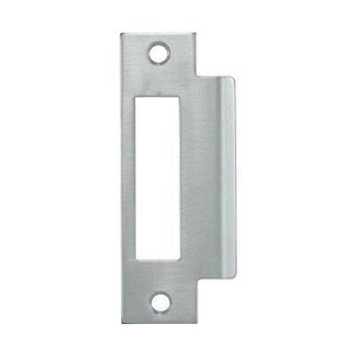 """Mortise Strike Plate, 1-1/4"""" Width x 4-7/8"""" Height (Large Hole) Zinc Plated"""