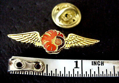 "Hawaiian Airlines Logo Hawaii Gold Tone Metal 1 1/4"" Mini Winged Pin"