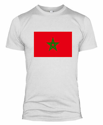 Morocco Flag T Shirt Football Supporter Fan National Moroccan Men World Cup L254