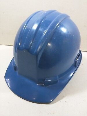 Vintage Bullard Model 5100 Hard Boiled Safety Helmet Blue Hard Hat