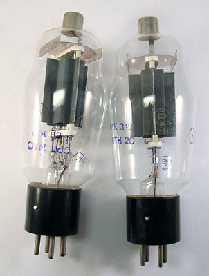 2x G-811 Soviet USSR Russian high power direct heated triode tube, 811 811A #408