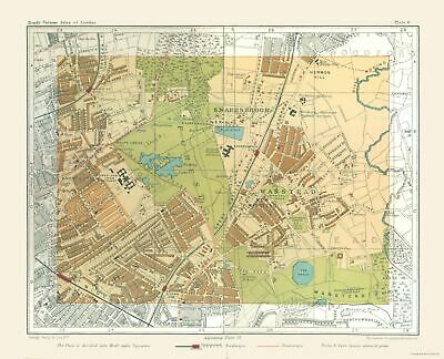 Old Great Britain Map Wanstead London England - Philip  1904 - 28.41 x 23