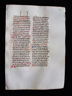 1280 AMAZING Medieval Vellum, Original Latin Manuscript from a Book of Hours.G10