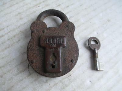 Vintage, Squire 'old English' Padlock. + Key.