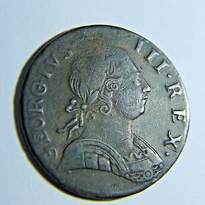 1775 Great Britain UK 1/2 Half Penny - George III Great Details, US Colonial