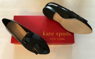 f177e0800ea9 Kate Spade New York 5M NEW  278 Black Patent Leather Fringe Shoe loafer  Cayla