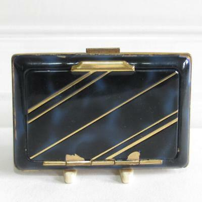 Vintage Art Deco Combined Powder Compact & Cigarette Case
