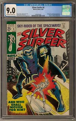 Silver Surfer #5 CGC 9.0 (OW-W) Letter from Wendy Pini