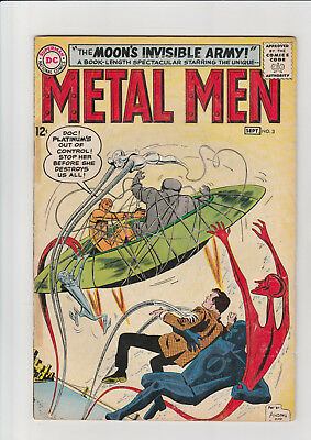 Metal Men #3 (1963, DC) G+ Invisible Army