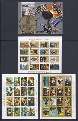 FS9224 4 Diff. Souvenir Sheets of Sports including 3 Sheets of 16 each Olympics