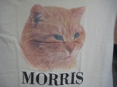Vintage 70's MORRIS The CAT Promo T-Shirt 9 LIVES Kitty Food Commercial Size M