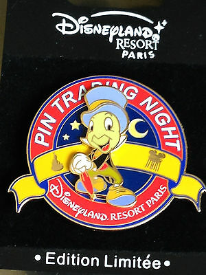 Disney DLRP Paris PTN Pin Trading Night Jiminy Cricket Pin