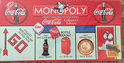 1999 Coca-Cola Monopoly Board Game Collector's Edition 8 Pewter Tokens! SEALED