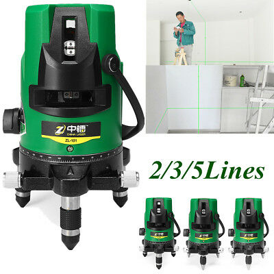 Outdoor 3D Green Laser Level Self Leveling 360° Rotary Cross Measure 2/3/5 Lines