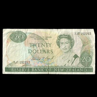 NEW ZEALAND $20 NZD Dollars Circulated Currently Valid Banknote