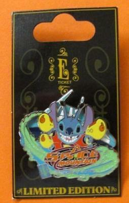 Disney Pin WDW - E-Ticket Attractions - Stitch - Space Mountain  3D LE