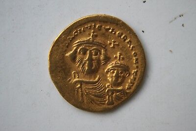Ancient Byzantine Gold Coin Heraclius. Solidus 610 - 641 A.d.