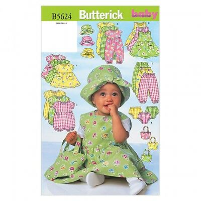 BUTTERICK 5624 Sewing Pattern to MAKE a Selection of Baby Clothing ...