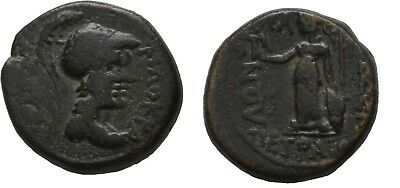 Ancient Greece 1 Cent BC THESSALY ATHENA ITONIA PHILOKRATES