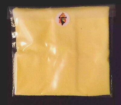 """Vinyl Record Cleaning Cloth 12'"""" Single 45s LP Yellow Grooveduster Microfibre"""