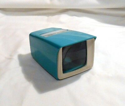 VINTAGE ARGUS PRE-VIEWER III  for slides  BATTERY POWERED Turquoise no box