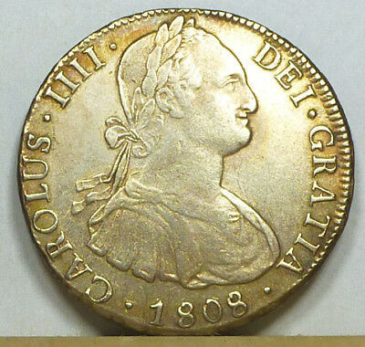 Bolivia 8 Reales 1808 PTS-PJ Extremely Fine NO RESERVE