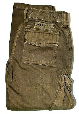 Boys Genuine Ralph Lauren Olive Green Cotton Cargo Pants - 2yrs, 3yrs, 4yrs