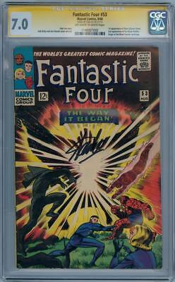 Fantastic Four #53 Cgc 7.0 Signature Series Signed Stan Lee 2Nd Black Panther