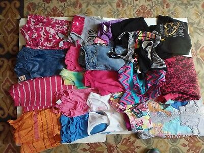 Lot of 21 Items of Used Girl's Summer Clothing size 7-8
