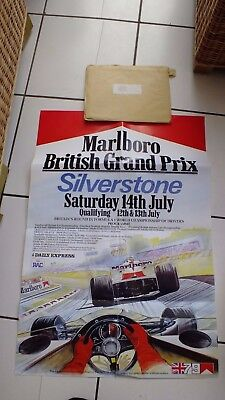 1979 Silverstone  -Marlboro- British Grand Prix advertising poster original