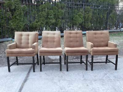 Lot Four Vintage Mid-Century Tufted Lounge Club Chairs Armchairs Eames Era