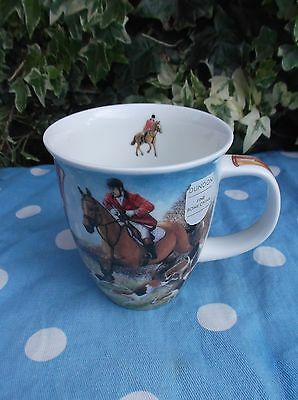 Dunoon China Mug ~ Highly Collectable ~ Hunting ~ By R. Partis ~ Made In England