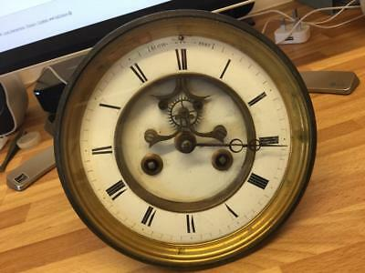 S. MARTI Medaille de Bronze in 1860 CLOCK OPEN ESCAPEMENT FOR REPAIRS OR SPARES.