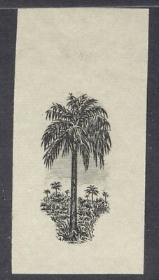 Liberia 1918, 15c palm tree, imperforate proof CENTER ONLY #167