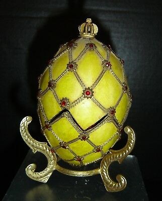 Vintage Russian Faberge Inspired by The Imperial Czar Coronation Egg of 1897.