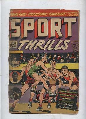 Sport Thrills  comic #13 Golden Age Pee Wee Reese, Jackie Robinson R Campenella