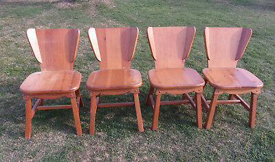 Habitant Furniture Bay City Michigan Knotty Pine Chair 1950's