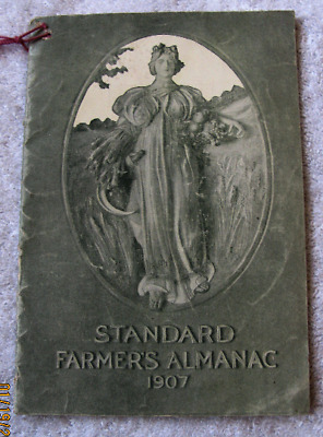 1907 Standard Famers Almanac Standard Oil Products Advertising Crown Gas