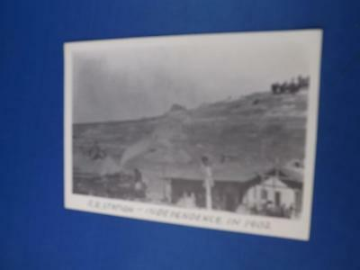 Train Postcard Railroad Station Independence In 1902