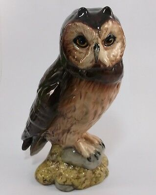 Royal Doulton Short Eared Owl Whyte Macay Scotch Whisky Decanter In Box Vintage