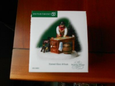 DEPT 56 DICKENS' VILLAGE Accessory STAINED GLASS ARTISAN NIB