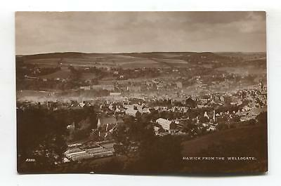 Hawick, Roxburghshire - general view from the Wellogate - old RP postcard