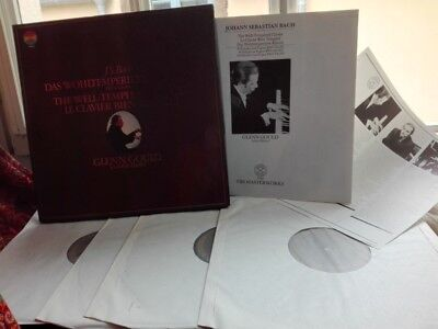 BACH: The well-tempered clavier Klavier > Glenn Gould piano /CBS 4 LPs Holland