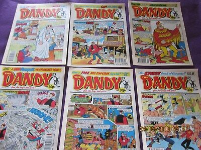 Dandy Comics Set 3 - Six Comics From 1992- Good Condition-Around The 2,600's.