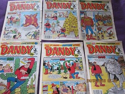 Dandy Comics Set4 -Seven Comics From 1992/93- Good Condition-Around The 2,600's.