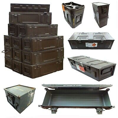 Army Ammo Metal Ammunition Tin Surplus Storage Box Tool Various Sizes